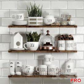 Decorative set for kitchen 3d model Download  Buy 3dbrute