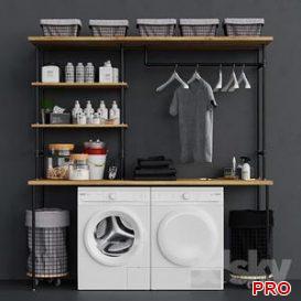 Loft Laundry Set 3d model Download  Buy 3dbrute