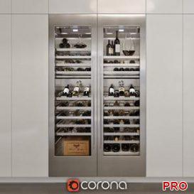Refrigerator for wine gaggenau rw 464 3d model Download  Buy 3dbrute