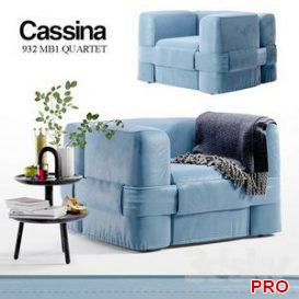932 MB1 QUARTET   Cassina 3d model Download  Buy 3dbrute
