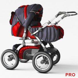 Stroller for children ANMAR 3d model Download 3dbrute