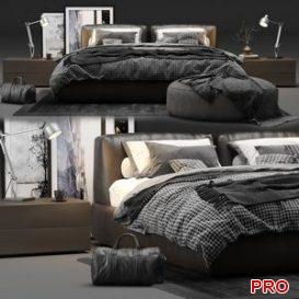 Poliform Bolton Bed 3d model Download  Buy 3dbrute