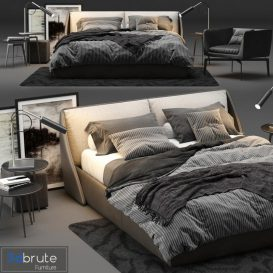 ALIVAR Lagoon Bed 3d model Download  Buy 3dbrute