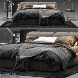 Ditre Italia Dunn Bed 3d model Download 3dbrute
