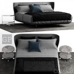 B&B Italia Alys Bed Comp A 3d model Download  Buy 3dbrute