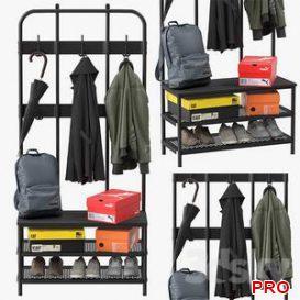 ikea pinnig coat rack 3d model Download  Buy 3dbrute