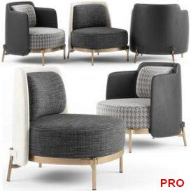 Minotti Tape armchairs 3d model Download 3dbrute