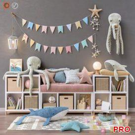 Toys and furniture set 26 3d model Download  Buy 3dbrute