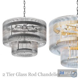 2-tier-glass-rod-chandelier 3d model