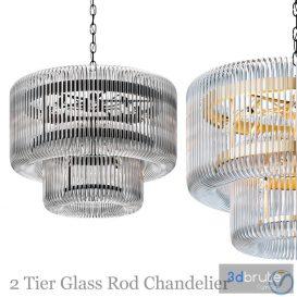 2-tier-glass-rod-chandelier 3d model