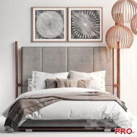 Flexform MOOD Icaro Bed 3d model Download  Buy 3dbrute