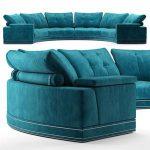 Andrew round sectional velvet sofa   Fendi Casa