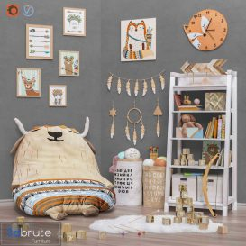 Toys and furniture  set 29 3d model Download  Buy 3dbrute