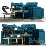 Andrew Sofa by Fendi Section A