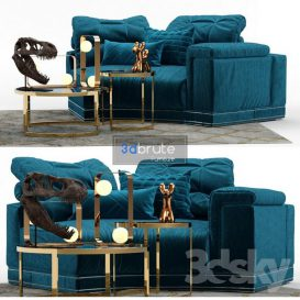 Andrew Sofa by Fendi Section A 3d model Download  Buy 3dbrute