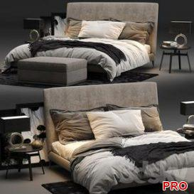 Maxalto Demetra Bed 3d model Download  Buy 3dbrute