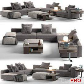 Sofa Atlas Mauro Lipparini 3d model Download  Buy 3dbrute