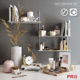 Decorative set for dressing table 3d model Download  Buy 3dbrute