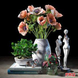 Decorative set 010 3d model Download  Buy 3dbrute