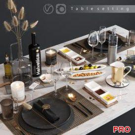Table serving 3d model Download 3dbrute