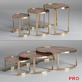 Coffee table ANYA Fendi Casa 3d model Download 3dbrute