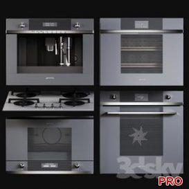 Kitchen Appliances Smeg Linea 3d model Download 3dbrute