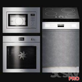 Kitchen Appliances Selezione 3d model Download  Buy 3dbrute