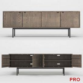Hensley Media Cabinets 05 3d model Download 3dbrute
