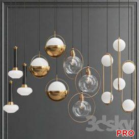 Collection of Pendant Lights 3d model Download  Buy 3dbrute