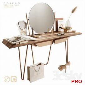 C oseno dressing table 3d model Download  Buy 3dbrute