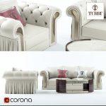 Sofa  chair coffee table Turri Couture