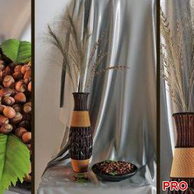 Decor with a vase and nuts 3d model Download  Buy 3dbrute