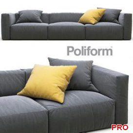 Poliform Shangai sofa 3d model Download  Buy 3dbrute