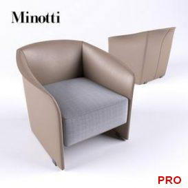 Minotti Case armchair 3d model Download 3dbrute