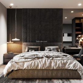 Bedroom & kitchen Crona render (1)