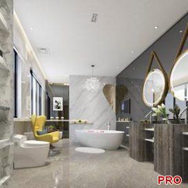 bathroom 02 3d model Download  Buy 3dbrute