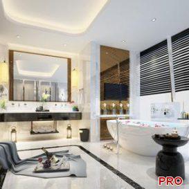 luxury bathroom 3d model Download  Buy 3dbrute