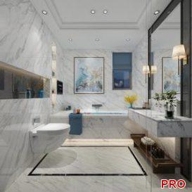 Modern Style Bathroom 3d model Download  Buy 3dbrute