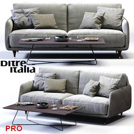 Ditre Italia ELLIOT 2 er Maxi Sofa 3d model Download  Buy 3dbrute