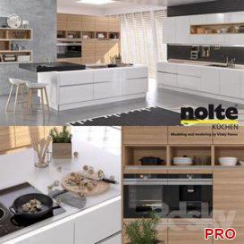 Kitchen NOLTE Nova Lack vray GGX corona PBR 3d model Download  Buy 3dbrute