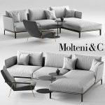 Molteni Chelsea sofa Molteni d153 armchair