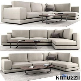 Natuzzi agora 3d model Download  Buy 3dbrute