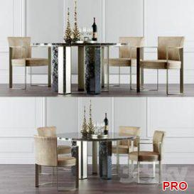 Fendi Casa Dinning Set 3d model Download  Buy 3dbrute