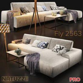 Sofa natuzzi Fly 2563 3d model Download  Buy 3dbrute
