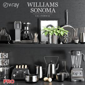 Williams Sonoma Chrome Set 3d model Download  Buy 3dbrute