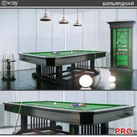 BILLIARD 3d model Download  Buy 3dbrute