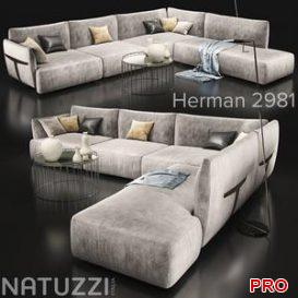 Sofanatuzziherman 2981 3d model Download  Buy 3dbrute