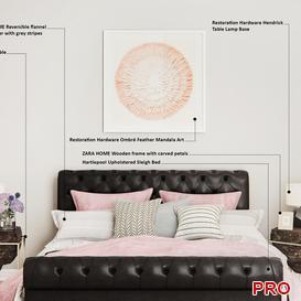 bretagne Bed b3 3d model Download  Buy 3dbrute