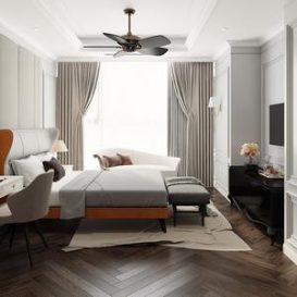 Bed room scene 14 3dbrute
