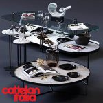 Cattelan Italia Coffee Tables Set 02 3d model Download  Buy 3dbrute